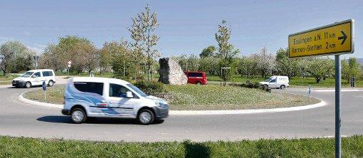 Das Landratsamt bescheinigt dem Römer Kreisel hohes Gefährdungspotenzial.-Foto-ZVW